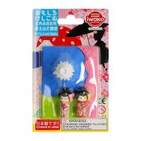 IWAKO ER-BRI051 岩泽趣味橡皮 儿童卡通可爱橡皮创意文具.富士山和歌舞伎当当自营