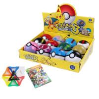小孩子玩具 生日�Y物 口袋妖怪神奇�����物小精�`球皮卡丘�和�玩具模型�D�b +12��底座