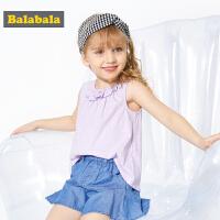 巴拉巴拉童装儿童背心夏装新款女童马甲外穿纯棉小童宝宝坎肩