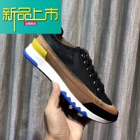 新品上市真皮男鞋时尚拼色韩版全皮系带男皮鞋松糕厚底运动休闲潮鞋