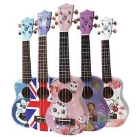 21寸23寸尤克里里 小四弦吉他乌克丽丽粉色少女心