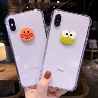 苹果x手机壳iphone8plus女新款可爱风XR全包防摔7p透明硅胶软6s潮牌Xsmax超薄保护套六七XMax