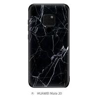 大理石华为mate20手机壳女mate20pro玻璃mate20x情侣p30/p20男nova4/3