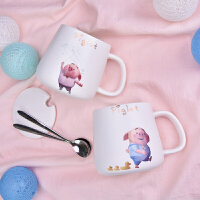 可爱马克杯带盖勺学生创意陶瓷杯子家用大容量情侣水杯少女心