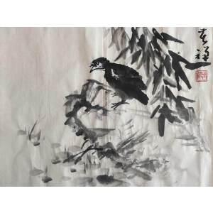 李苦禅经典国画作品_35-45_纸本_11000