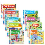 英文原版Busy忙碌繁忙系列绘本9册 Busy cafe/vets/baby animal 2-6岁儿童启蒙推拉抽拉操