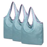 3个装 可折叠购物袋买菜大容量超市环保手提袋便携尼龙 定制logo 纵向大号