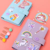 韩国ins粉色少女心手账本 活页手帐本套装小清新旅行日记笔记本子