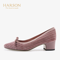 【 限时3折】哈森 2019秋季新款浅口尖头单鞋女 时尚HL92412