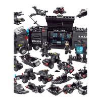【京东优选】森宝兼容乐高积木男孩子3航母拼装玩具车拼图儿童8城市军事特警10