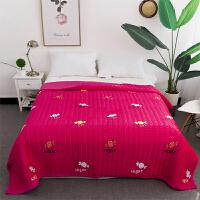 毛毯被子加厚冬季双层珊瑚绒毯子双人1.8m保暖床单法兰绒铺床炕单s 枚红色 糖果玫红