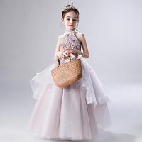 �和��Y服公主裙花童婚�蓬蓬�女童�琴演出服