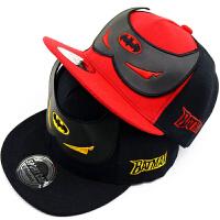 蝙蝠侠儿童帽子男时尚潮秋冬四季款棒球帽黑色男童嘻哈鸭舌帽
