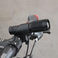 自行车灯 前灯骑行装备T6调焦变焦强光手电筒 山地车单车