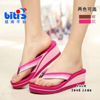一双越南鞋平拖鞋坡跟加胶底夹脚人字越南沙滩凉拖鞋