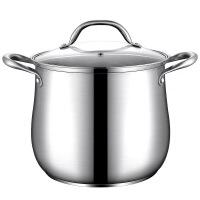汤锅304不锈钢家用加厚桶带盖拉面熬汤蒸煮锅不粘锅大容量高汤锅 22CM高汤锅