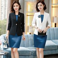 女装韩版OL时尚职业小西装套装女秋装2019新款修身气质白领西服外套女女职业套装女