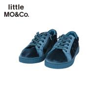 littlemoco秋冬新品童鞋宝宝鞋子儿童休闲丝绒绑带鞋防滑运动鞋