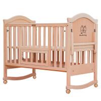 多功能实木婴儿床无漆环保榉木宝宝bb床新生儿童床拼接大床