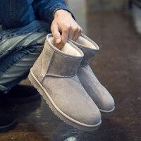 高帮男短靴冬季高筒雪地靴男保暖加绒加厚东北靴子男防滑防水棉鞋