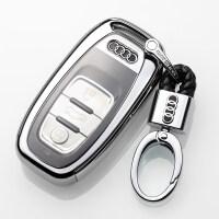 奥迪新款钥匙包A6L A7 A8 A4L A5车钥匙扣Q5壳S5 S6钥匙套