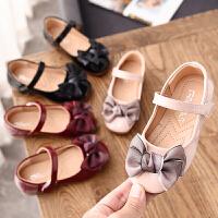 女童鞋子公主鞋春款女孩单鞋软底女宝宝豆豆鞋