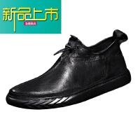 新品上市马丁靴男低帮英伦风18冬季新款真皮韩版休闲男鞋保暖加绒棉鞋潮