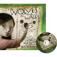 墙壁里的狼 英文原版 The Wolves in the Walls 有声绘本附CD 克服恐惧 儿童成长奇幻绘本 尼尔