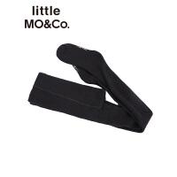 littlemoco秋冬新款儿童裤袜字母撞色弹力微厚保暖裤袜女童袜子