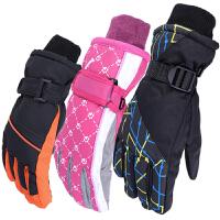 (4-13周岁)儿童学生冬季加厚防水防风保暖男女滑雪手套冬