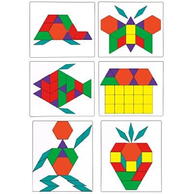 智力儿童拼图玩具2-3-4-5-6岁男女孩早教木质七巧板宝宝拼板c +榉木七巧板 本店部分定制定金商品,需要补齐尾款发货,部分商品需要自提或补运费,私自下单不作为