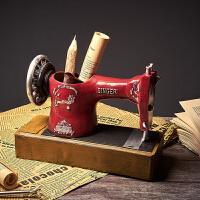 美式复古笔筒摆件个性办公桌书桌装饰创意家居客厅酒柜玄关摆设