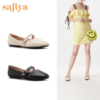 【减后价:199元】SAFIYA2020年春季浅口平底单鞋奶奶潮鞋女SF01111167