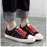 新款高帮帆布鞋女韩版百搭学生潮鞋ulzzang休闲布鞋板鞋