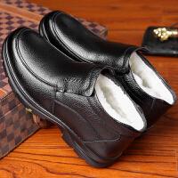 中老年棉鞋男冬季保暖加绒老人加厚爸爸防水老头鞋男士