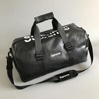 短途旅行包女手提鞋位行李包男韩版大容量旅行袋防水运动健身包潮 黑色 送干湿分离袋 大