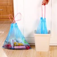 10卷装垃圾袋家用加厚手提式一次性卫生间中号抽绳拉机自动收口厨房塑料颜色随机 多选项选择