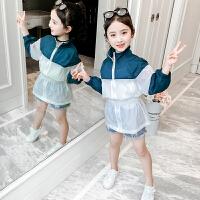女童中长款防晒衣夏款2019新款儿童装薄外套小女孩皮肤衣