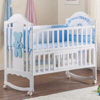 婴儿床实木欧式多功能摇床宝宝床婴儿摇篮床新生儿床游戏床