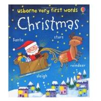 [现货]圣诞节的英语单词-纸板书 VERY FIRST WORDS CHRISTMAS 英文原版 幼儿启蒙