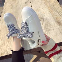 百搭网红2018秋冬季平底棉鞋加绒女运动小白鞋学生板鞋子