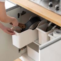 厨房滑轮锅盖架置物架塑料锅具收纳架调料架储物架子