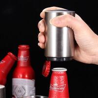 啤酒开瓶器抖音同款网红按压开瓶器创意不锈钢瓶起子单手开瓶神器