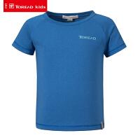【限时秒杀价:24元】探路者儿童T恤 春夏户外男童反光印花短袖多彩T恤QAJG83005