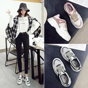 ZHR2019春季新款韩版运动鞋平底小白鞋ins超火老爹鞋休闲鞋女鞋子