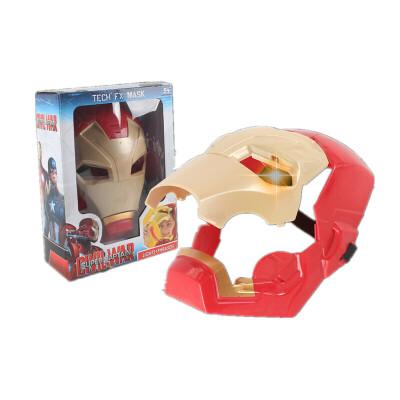 儿童蜘蛛侠可发光面具手套披风玩具英雄套装男孩钢铁侠万圣节道具  因年底放假,1月26日-2月11日订单将于2月12日开始陆续发出,介意慎拍。住各