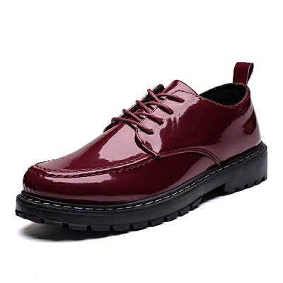 春季男士休闲鞋英伦皮鞋学生韩版潮流社会青年商务小皮鞋   冬季时尚新款女鞋 男鞋