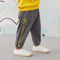 【6折价:183.06元】马拉丁童装男小童裤子春装2020年新款针织长裤宽松儿童裤子