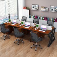 办公家具职员办公桌椅组合 屏风工作位职员办公桌四人位电脑桌椅组合办公家具2/4/6人位工作位屏风卡座
