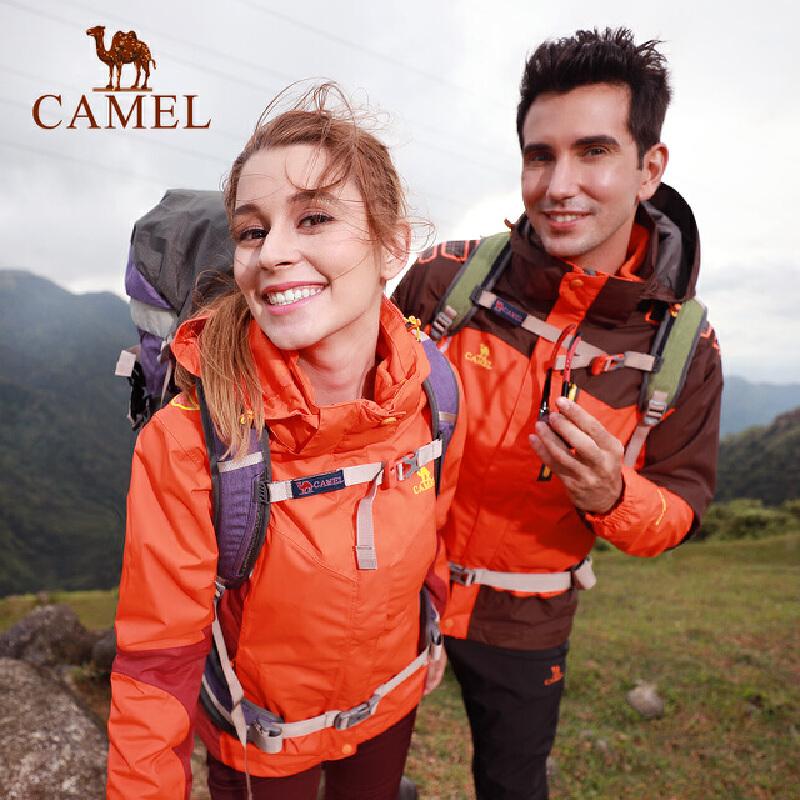 camel骆驼户外冲锋衣 防风透气两件套三合一男女情侣款
